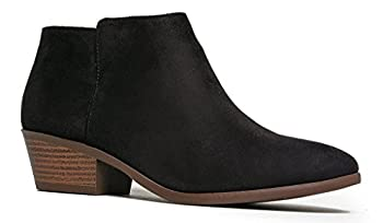 Soda Western Ankle Boot- Cowgirl Low Heel Closed Toe Casual Bootie Black IMSU  6