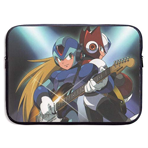 shenguang Anime Rockman Funda para Ordenador portátil Funda para Ordenador de 15 Pulgadas Maletín para Tableta Ultra portátil Protector