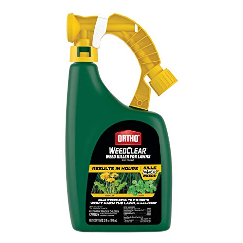 Ortho WeedClear Weed Killer for Lawns Ready-To-Spray: Treats up to 16,000 sq. ft., Won't Harm Grass (When Used as Directed), Kills Dandelion & Clover, 32 oz.