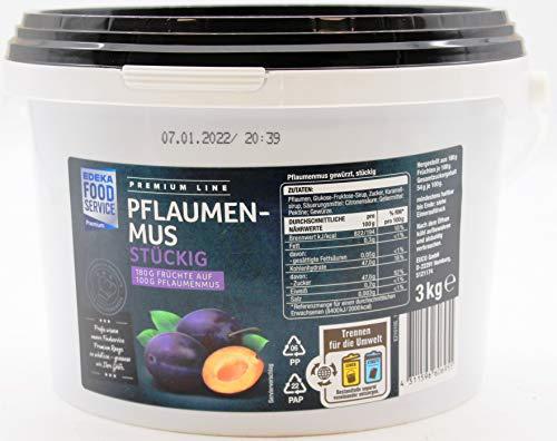 Premium Line Pflaumenmus stückig, 1 x 3 kg Eimer