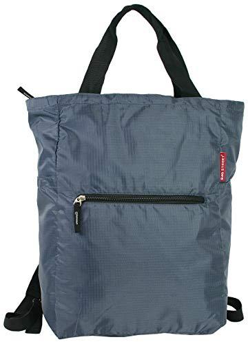 BAG STREET INTERNATIONAL Rucksack-Tasche 2 in 1 Rucksack und Handtasche in Einem - sehr leich - groß (Grau)