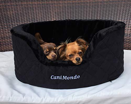 CaniMondo Hundebett Borsetta (M, Nero schwarz)