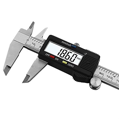 LDH Calibres Digitales, Pie de Rey Profesional Calibrador de Vernier Digital de Acero Inoxidable, Calibradores de Alta Precisión, 0-100/150-200-300mm Micrómetro de Calibrador Digital