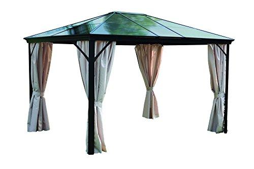 Leco 4713910103 Profi-Pavillon, 365 x 300 x 260 cm, grau/braun