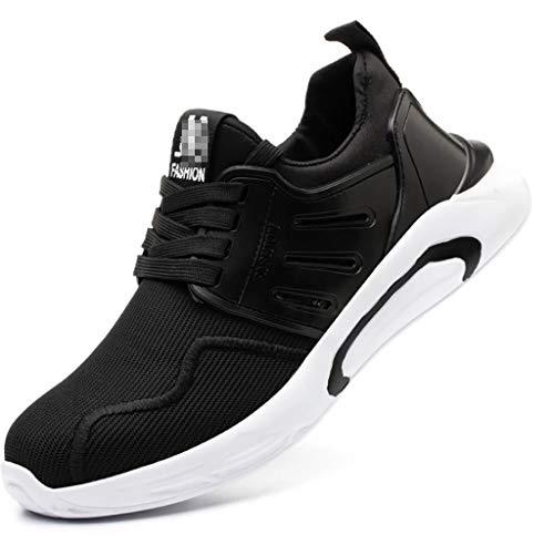 ZYFXZ Zapatos de seguridad para hombres Transporte de punta de acero, zapatillas de deporte de baja temperatura transpirables, zapatos industriales ultra ligeros a prueba de puntas zapatos de segurida