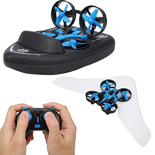 2.4G HZ JJRC H36S Control Remoto Barco/Dron, Control Remoto 4-Axis Hovercraft Desmontable Anfibio RC Flying Drone Land Driving Boat Quadcopter Toy Mini Drone para niños