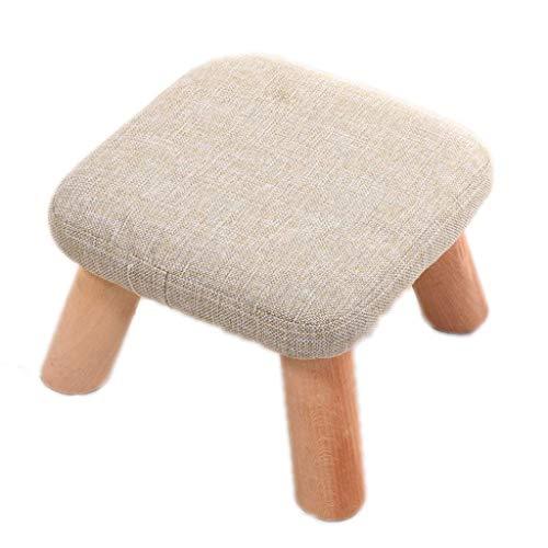 ZFFSC - Taburete de madera para cambiar el zapato, taburete, taburete, tapizado, patas de madera extraíble