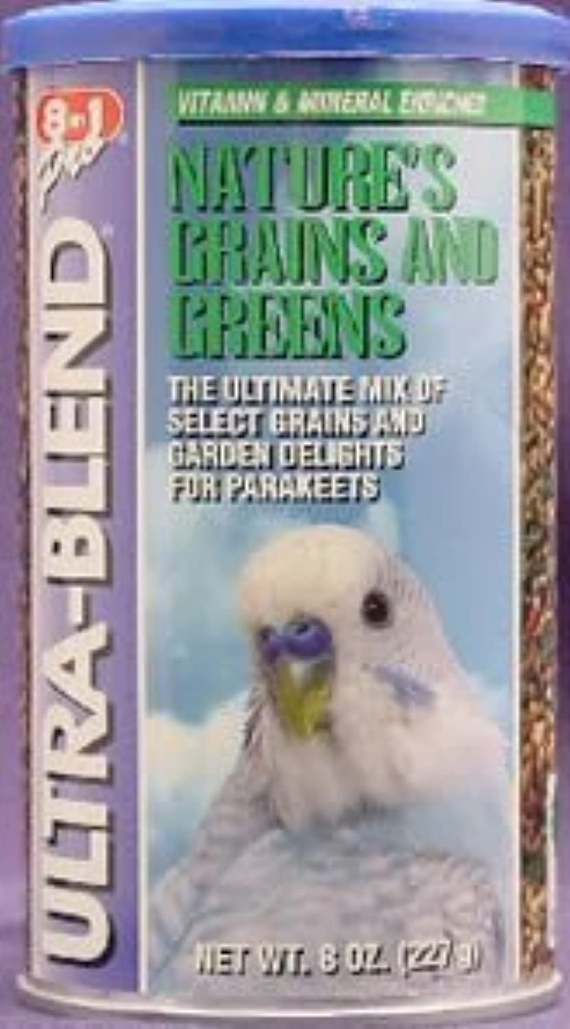 Grains & Greens Variety Blend for Parakeets  8 oz