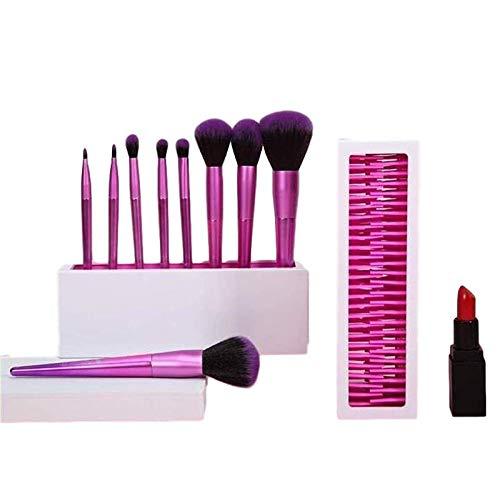 Stockage créatif de pinceaux de maquillage de bureau Organ Organisateur de coiffeuse compact pour pinceaux de maquillage, crayons, mascara et plus, excellent cadeau pour les proches (Rose blanc)