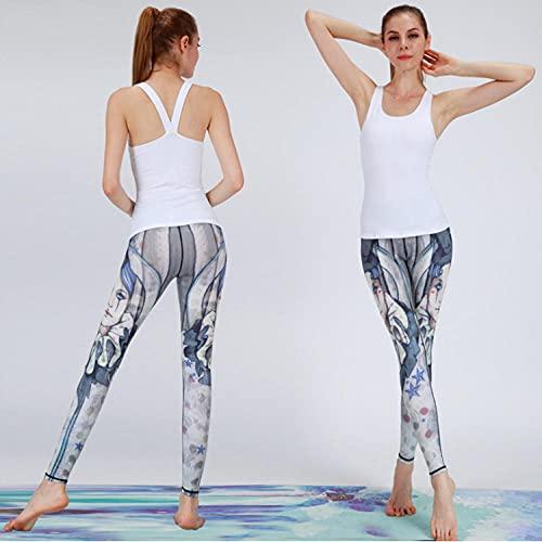 ArcherWlh Leggings Push Up Mujer,Ropa de Yoga Fitness Running Femenino Europeo Y Americano Yoga Pantalones Pantalones Pantallas SPEET Scry Hips High Cintura Pantalones de Yoga-Niña educada_S