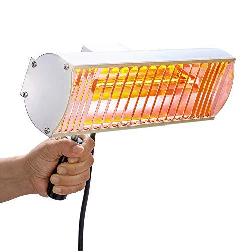 1000W Secador Pintura Infrarrojo de onda corta Lampara Secado Pintura Coche de Secador de Pintura Infrarrojo de mano luz infrarroja para reparación de coche DT-001 (220V UE)