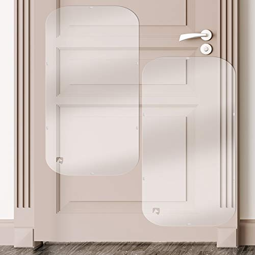 PETFECT Tür-Kratzschutz für Innen & Außen, transparent (90 x 40 cm) - 2 Stück