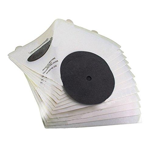 Confezione SPARES2GO di 12filtri per aspirapolvere conici per aspirapolvere DE Filtro Queen