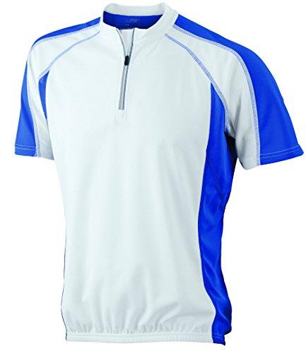 2Store24 Men's Bike-T in White/Royal Size: XL