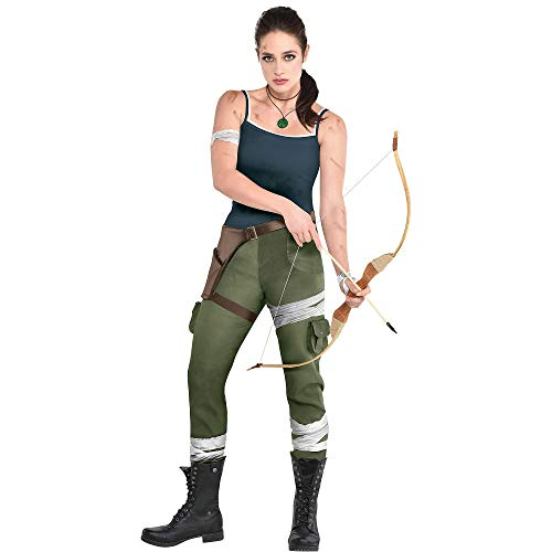 Party City Tomb Raider Video Game Lara Croft Costume for Adults, Size Large, Includes Tank Top, Pants, Armband, More