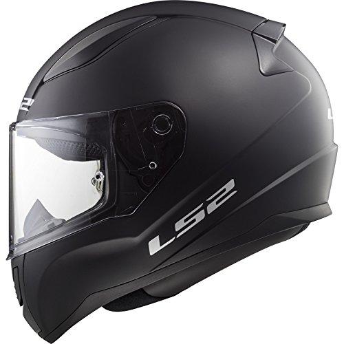 LS2Casco Integral Rapid FF353, color negro mate, talla S