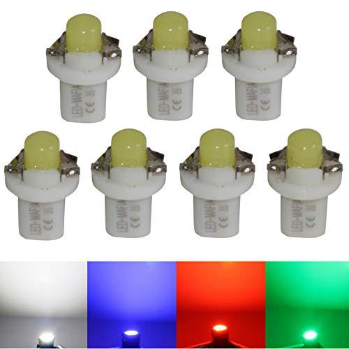 LED-Mafia Lot de 7 ampoules halogènes B85d type B8.5d - Éclairage de tableau de bord - Blanc, bleu, rouge, cockpit a (vert)
