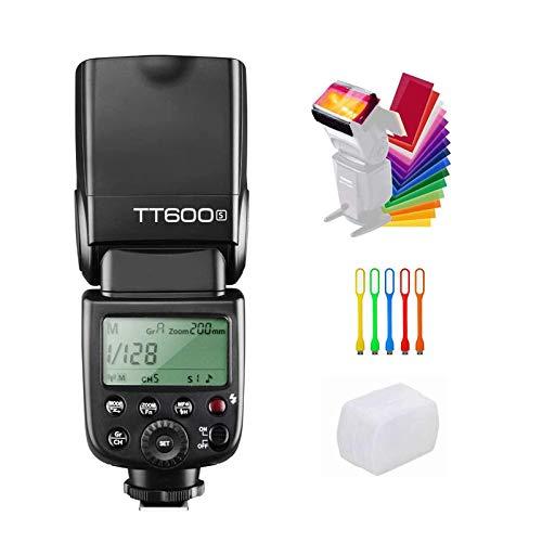Godox TT6002,4GHz inalámbrico GN60Master Slave Cámara Flash Speedlite para Canon Nikon Pentax Olympus Fujifilm Cámara Negro