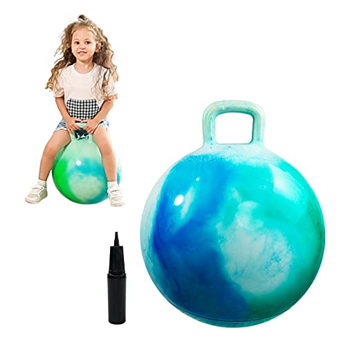 EVERICH TOY Hopper Ball for Kids-Bouncy Balls with Handle-20 inch Hopping Bouncing Ball for Kids Age 7-12,Gift for Boys and Girls ,W Pump