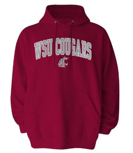 Old Varsity Men's NCAA Officially Licensed Hooded Sweat Shirt, Crimson, Medium, Washington State Cougars