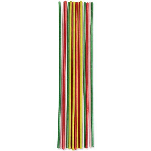 PME CA036 Lot de 18 Bougies Magiques, Plastique, Multicolore, 0,2 x 0,2 x 17 cm