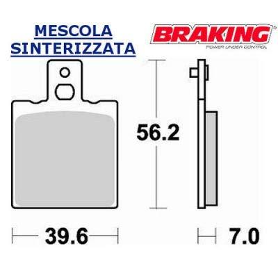 612CM56 Par de pastillas compatibles con Cagiva Freccia C9 125 1987 1988 Trasero DX Braking
