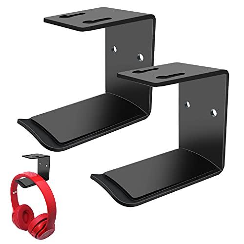 2 pezzi Gancio per Cuffie Sotto la Scrivania, Supporto da Parete per Cuffie, Supporti in Alluminio per Cuffie, Supporto per Cuffie Wireless e Cablate