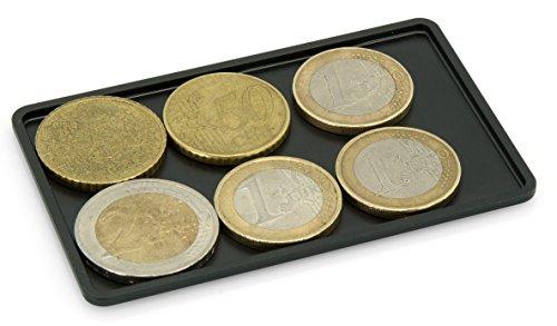 slimpuro SLIMPURO® Coin Case/Coin Card - Universales Münzfach, Kleingeldfach aus Aluminium für Slim Wallets, Kreditkartenetuis, Kartenetuis, Geldbeutel - Blockt RFID Signale (Ohne Filzschutz, 2,5mm dünn)