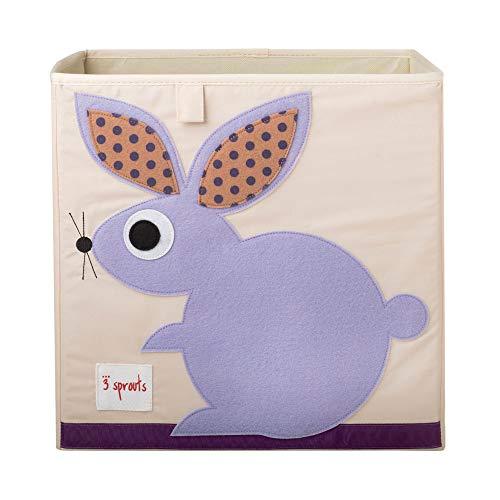 3 Sprouts - Contenitore cubico - Contenitore per bambini e bambini piccoli, Coniglio