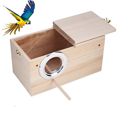Tfwadmx Parakeet Nesting Box, Bird Nest Breeding Box Cage Wood House for Finch Lovebirds Cockatiel Budgie Conure Parrot, 8'' X 5'' X 5''