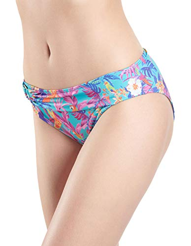 Aubade NR22 Women's Desir D'Evansion Blue Floral Swimwear Beachwear Bikini Bottom 40