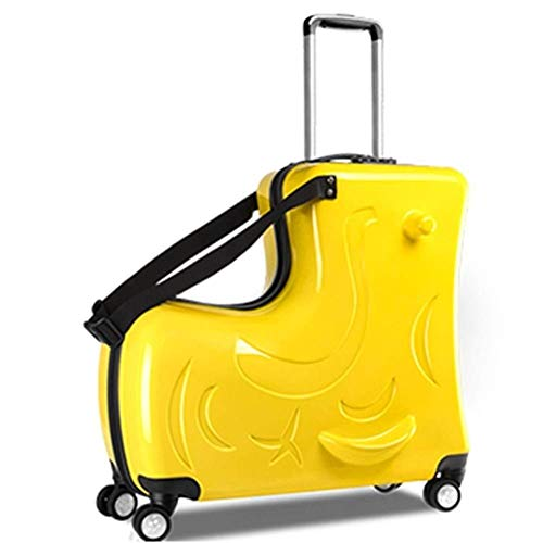 Suitcases Wheel Travel Bag Student School Bag Children Rolling Luggage Spinner Multifunction Creative Trolley Kids,24 Inch Rose,24'