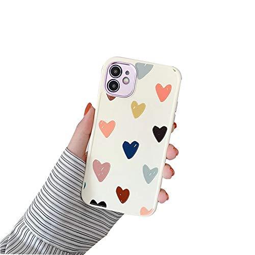 XWCG Funda Silicone Case para iPhone 12/12 Mini/12 Pro MAX Carcasa de Silicona Suave Antichoque Bumper con [Protección de La Cámara] Patrón Back Cover,1,12/12pro