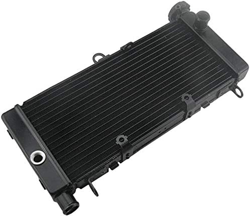 discount Mallofusa Motorcycle Aluminum Radiator high quality Cooling Cooler Compatible for Honda CB600 1998 1999 online 2001 2002 Black online sale