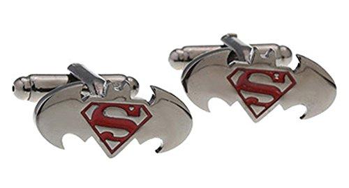 Covink® Batman vs Superman Dawn of Justice Herren Manschettenknöpfe Superhero Französisch Shirt Manschettenknopf Edelstahl Metall