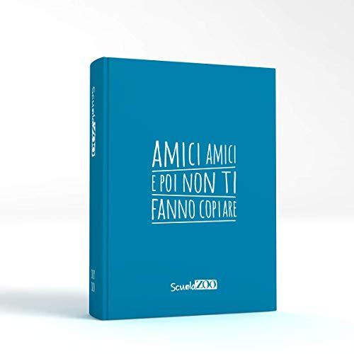 ScuolaZoo Agenda Diario Scolastico 2019 2020 con Meme divertentissimi e Tanti Adesivi, Disponibile in 6 Colori e 3 Dimensioni (Azzurro, Classic)