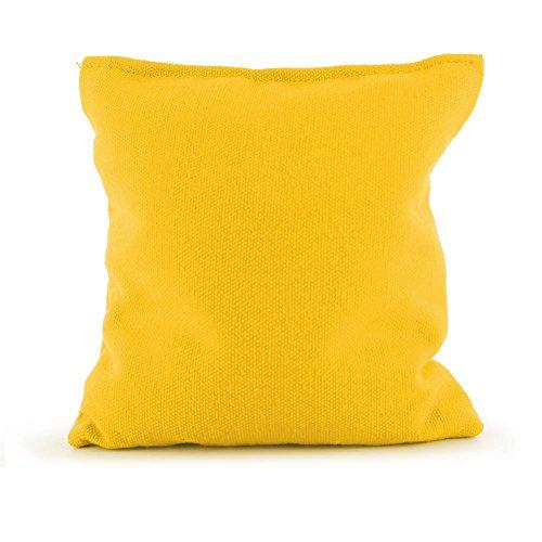 Tailor Spot Empty Cornhole Bean Bags (Set of 4) Standard ACA/ACO Regulation 25+ Colors (Yellow)