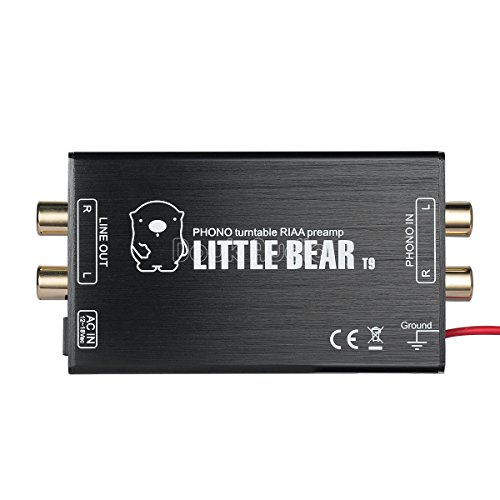 New Nobsound Little Bear T9 Mini Phono Stage Preamp MM Moving Magnet Turntables Pre-Amplifier; RIAA ...