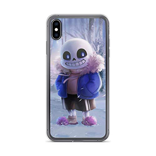Compatible with iPhone SE 2020 Case,iPhone 7/8 Case Undertale Skull Smile Horror American Indie Game Pure Clear Phone Cases TPU Anti Bumps Scratches Protective Cover