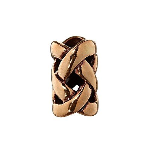 NKlaus Bartperle Haarschmuck NEMETONA Celtic Bronze Lockenperle 6404