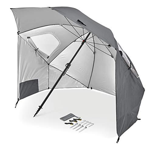 Sport-Brella Premiere XL UPF 50+ Umbrella Shelter for Sun and Rain Protection (9-Foot, Gray)