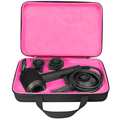 Kyr io - Estuche duro de EVA para secador de pelo, compatible con Dyson Supersonic secador de pelo, portátil, bolsa de transporte, color negro