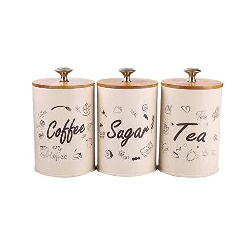LHQ-HQ Hogar condimento Botellas, latas latas de Alimentos de los hogares Granos de café té Latas Simple Prueba de Humedad Tarro de Especias