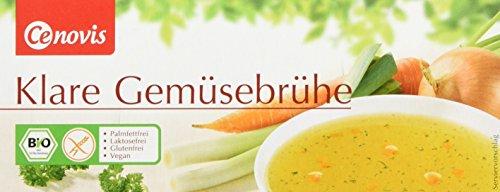 Cenovis Bio Klare Gemüsebrühe, laktosefrei, glutenfrei und vegan, 4er Pack (4 x 126 g)