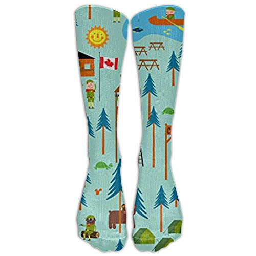 Boy Scouts Camp Turtle Tube Socks For Women & Men - Graduated Athletic Fit For Running, Nurses, Flight Travel, Skiing & Maternity Pregnancy - Boost Stamina & Recovery