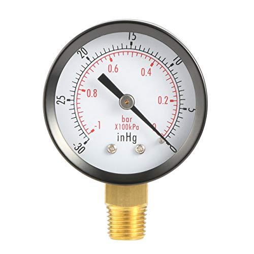 Ballylelly Dry Utility Vakuum Manometer Schwarz Stahl 1/4