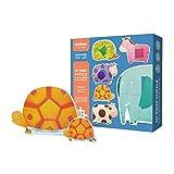 楽しいパズルビッグパズル子供の教育インテリジェンス赤ちゃん幼児教育男の子と女の子幼児のおもちゃ1-2-3-4歳耐久性(色:幾何学的)