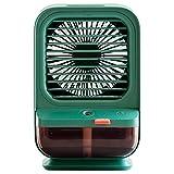 Mini Aire Acondicionado Portátil, El enfriador de aire portátil, el mini humidificador de aire acondicionado y con 3 velocidades de viento ajustables enfriador de aire evaporativo personal, adecuado p