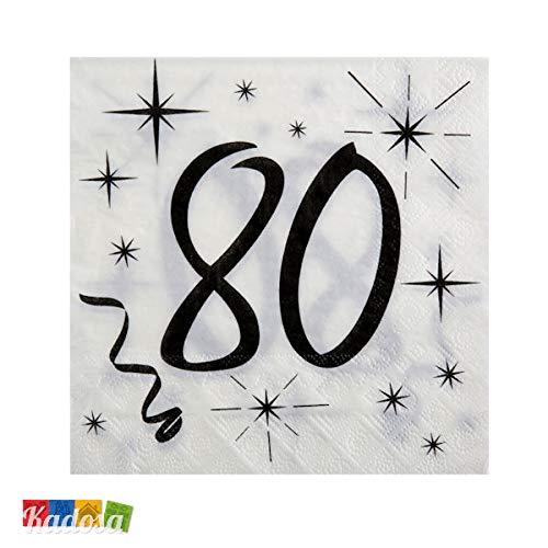 80. Geburtstag Party Servietten