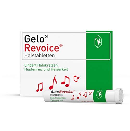GeloRevoice Halstabletten Kirsch-Menthol 60 St. – Bei Halsschmerzen, Halskratzen, Hustenreiz und Heiserkeit, Hilft schnell spürbar und lang anhaltend - auch bei Stimmenverlust, Schluckbeschwerden und Räusperzwang